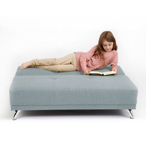 Reclining Sofa Duck Egg Blue Seater Convertible Clic Clac Childrens Sofa Bed