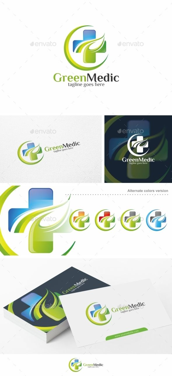 Green Medic / Health - Logo Template Vector EPS, AI. Download here: http://graphicriver.net/item/green-medic-health-logo-template/13550825?ref=ksioks