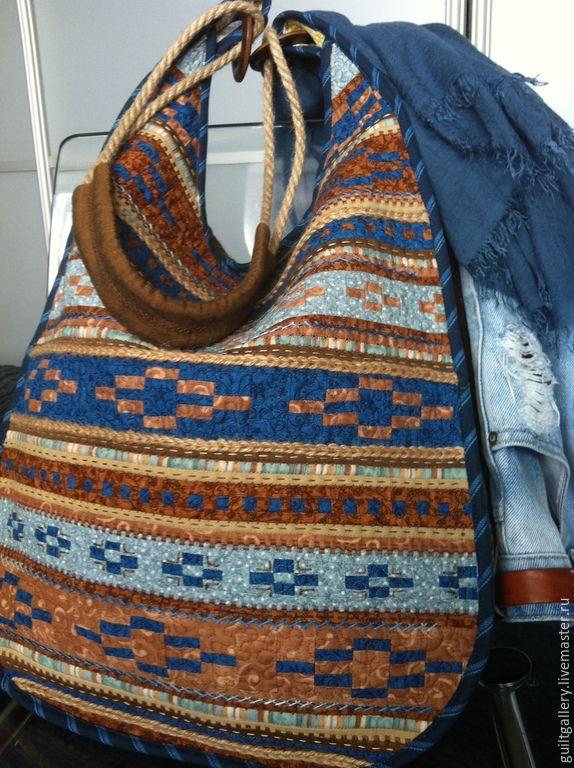 """Купить """" Рыжий берег """" лоскутная сумка. - разноцветный, орнамент, лоскутная сумка"""