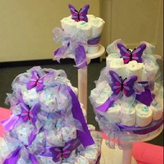 shower diaper baby shower gift showers baby shower party butterflies