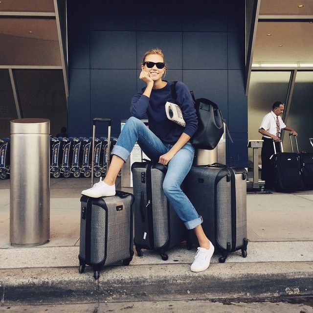 On the road again, do you think I packed enough? ✈️ | Karlie Kloss