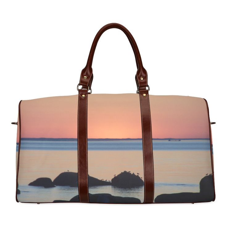 Dusk on the Sea Waterproof Travel Bag/Small (Model 1639)