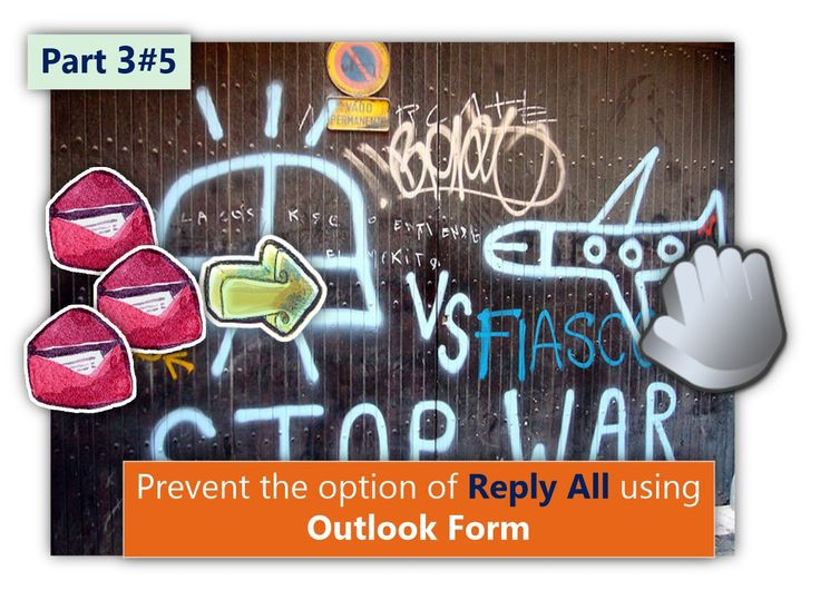 Prevent the option of Reply All using Outlook Form | Part 3#5 - http://o365info.com/prevent-the-option-of-reply-all-using-outlook-form-part-3-of-5/