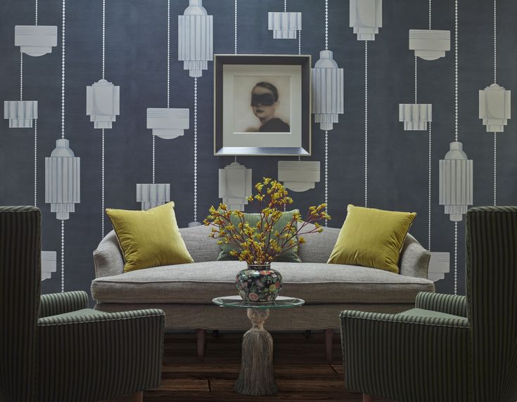 ballroom colourway: stardust reference: mb06 01n Wallpaper walls decor Luxe living room New