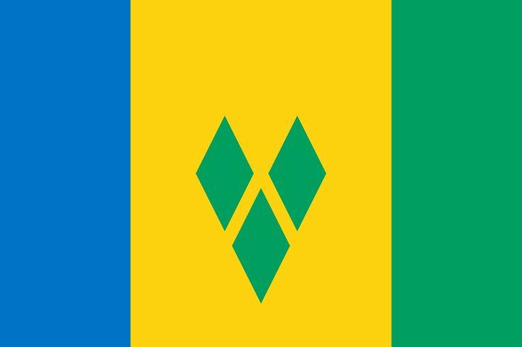 Bandera . Saint Vincent ante the Grenadines . ( ANTILLAS MENORES )
