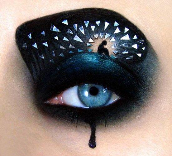 Göz Kapaklarına Yapılan Muhteşem Makyaj Sanatı
