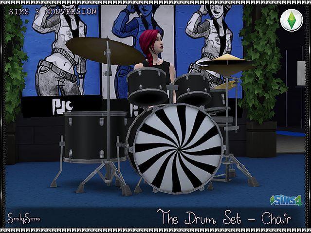 SrslySims | The Drum Set - Chair