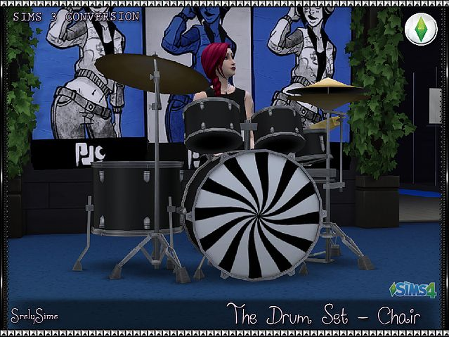 SrslySims | The Drum Set - Chair