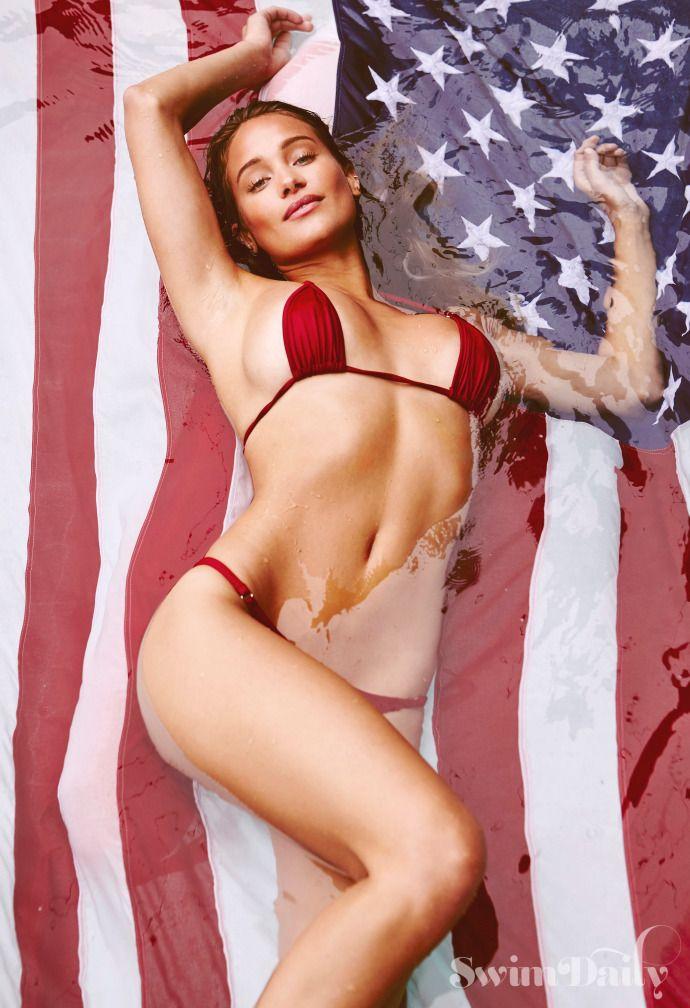 Oh, say can you see! Hannah Davis' bikini salute | Page Six