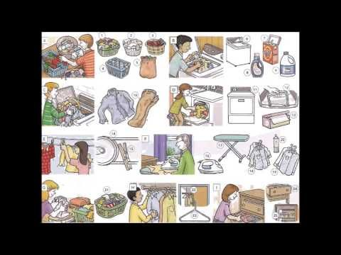 Washing clothes and laundry vocabulary video - Learning English with videos and pictures