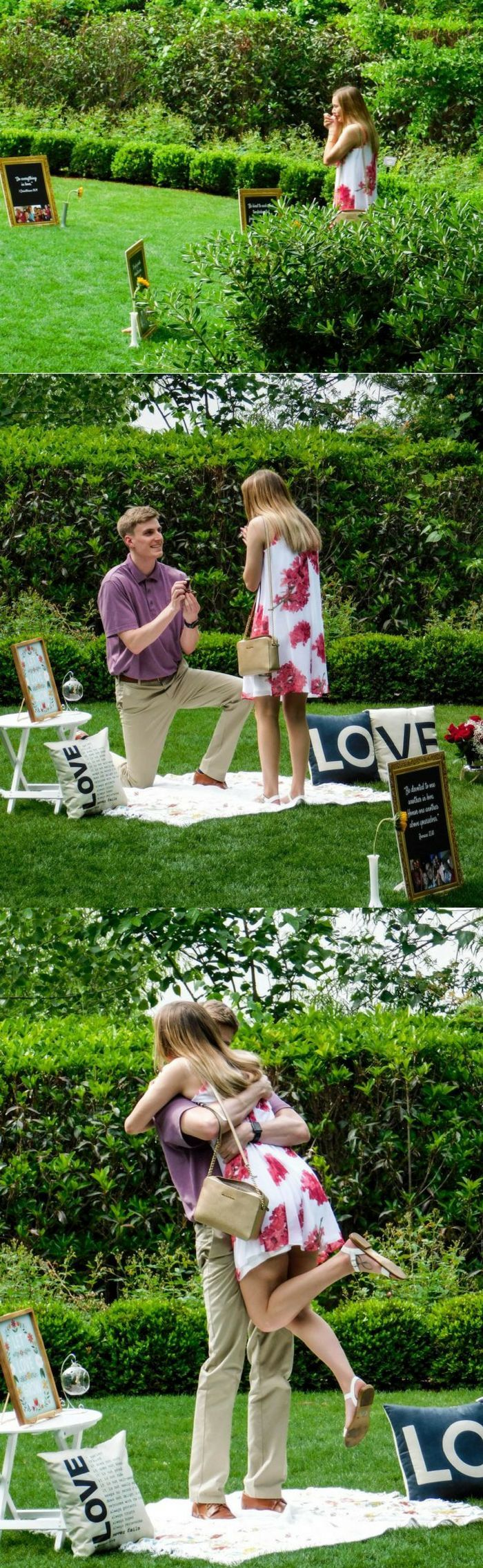 He thought of everything for this romantic #RingBySpring marriage proposal!
