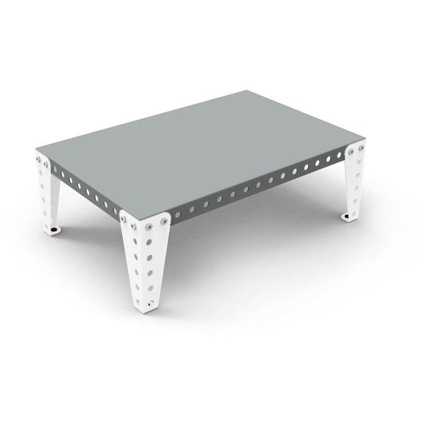 Meccano Home Coffee Table   Grey/White   Small (460 CAD) ❤ Liked