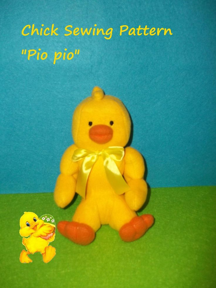 "Tutorial PDF Sewing Baby Chick soft Pattern  | Craftsy. Tutorial PDF Sewing Baby Chick, soft Pattern  Baby Chick Soft Toy ""Pio pio"" - High 21 CM. Instant downloadable PDF sewing pattern for a chicken soft toy. Print straight away & make! 26 pages, 38 Step by step.  Full size pattern pieces just Print and Sew! (No need to enlarge or resize!)"