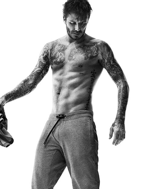 David Beckham Shows Ripped Abs, Sexy Tattoos in H&M Bodywear Ads - Us Weekly