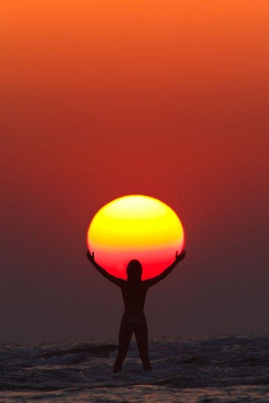Amazing Sunset in India, Maharashtra, Paradise Beach