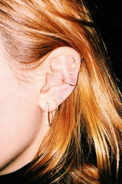 Thompson gave Bella Thorne this combination, which calls upon the biggest piercing uptick of late: the conch.