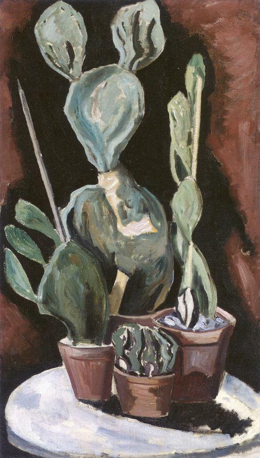 Four Cactus Plants / Marsden Hartley - circa 1918-1923