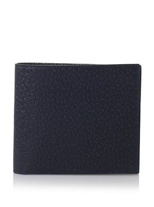 Leone Braconi Men's Bi-Fold Wallet, Blue, One Size