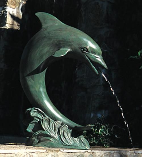 Large Single Dolphin Garden Accent And Pool Statuary