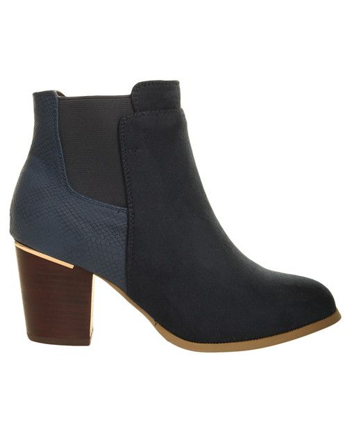 Navy Ankle Boot main image