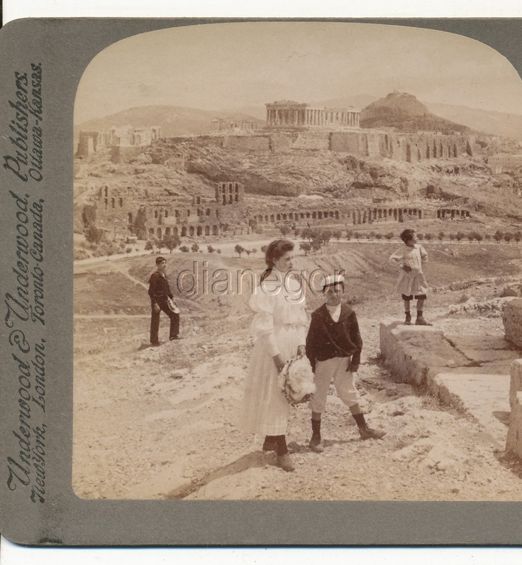 Acropolis of Athens Lykabettos & Royal Palace Greece Underwood Stereoview 1907 | eBay; From Greece through the Stereoscope by Rufus R. Richardson PH.D.