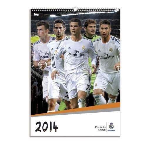 Official REAL MADRID FC 2014 A3 Wall Calendar #OfficialLicensedMerchandise