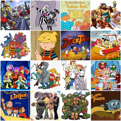 Transformers, Beetlejuice, Berestein Bears, Rescue Rangers, Wuzzles, Denis the Menace, Ducktales, Flintstones, Fraggles, Inspector Gadget, Jetsons, Muppet Babies, Littles, Elephant Show, Teenage Mutant Ninja Turtles, Brave Little Toaster