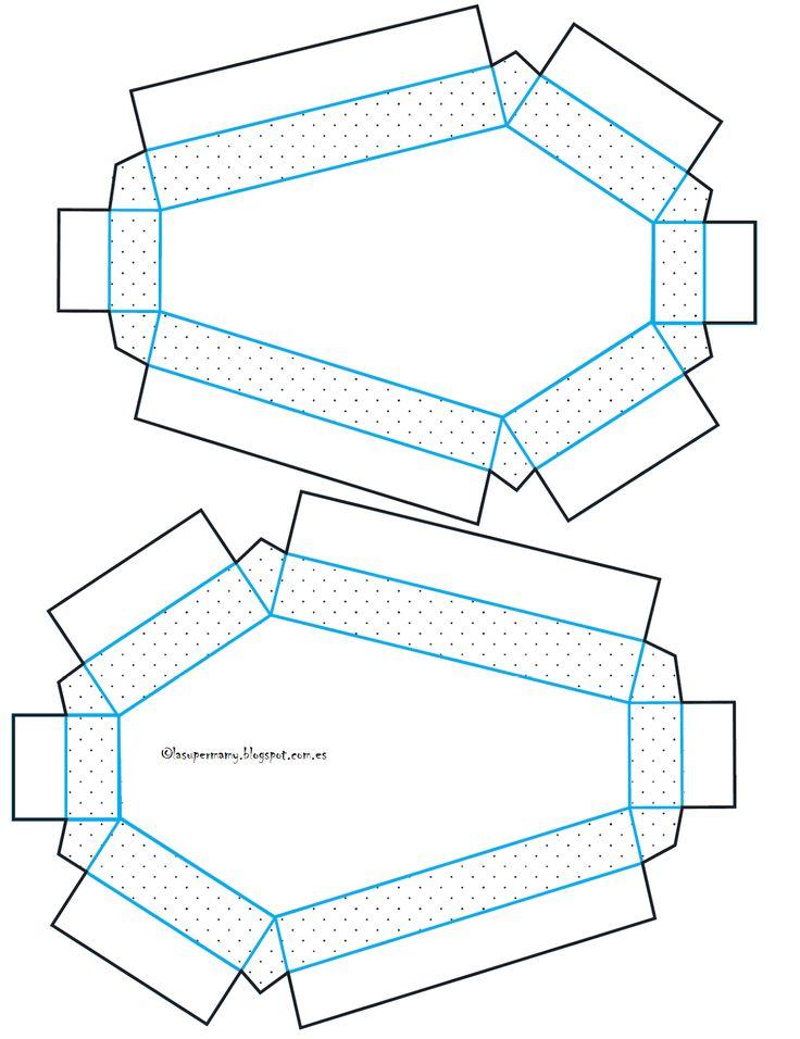 pattern for coffin box invitation. La Super Mamy: Halloween...DIY invitación ataud