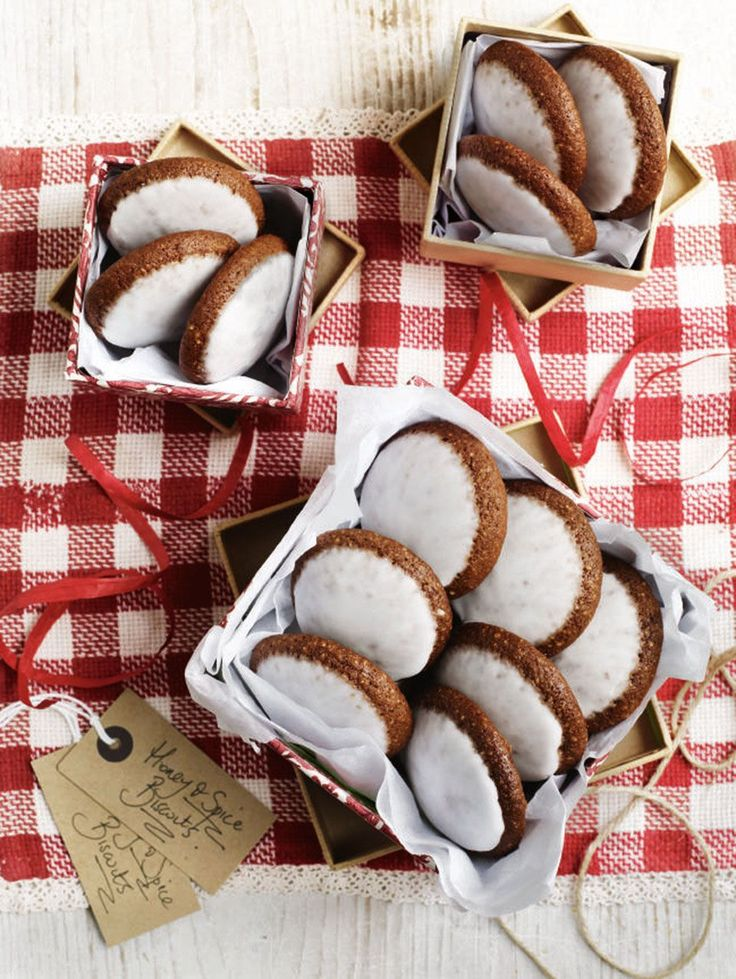 Lebkuchen are German honey and spice biscuits, similar to gingerbread. They're a great idea for an edible Christmas gift.