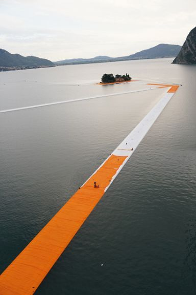 """""""The Floating Piers"""" by Christo & Jeanne-Claude Lake Iseo Italy"""