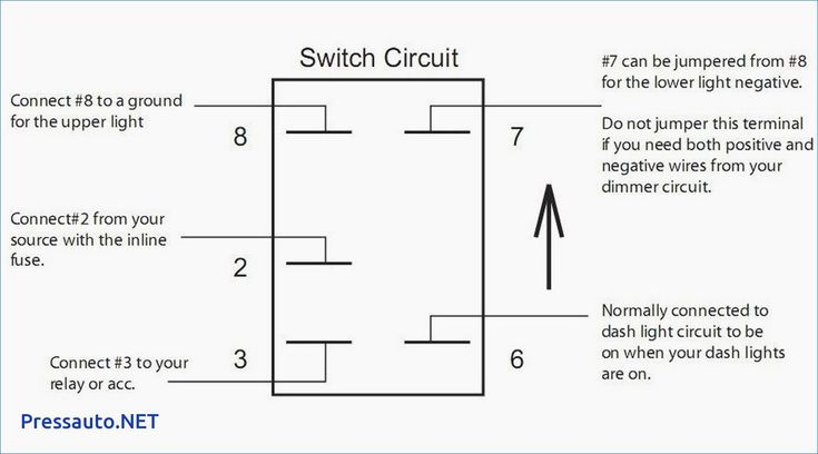 6 Pin Rocker Switch Wiring Diagram