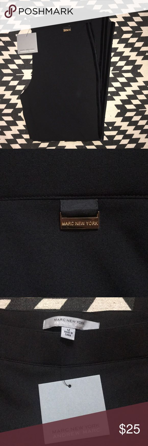 """Marc New York Andrew Marc dress pants Marc New York Andrew Marc dress pants NWT, very stretchy material  97% polyester 3% spandex  They have a runny control spandex band across the top. Valor stripes run some the side of the pants, giving them added texture and style.  Inseam 26""""  Length 36""""  Waist 16""""  Size M Andrew Marc Pants Straight Leg"""