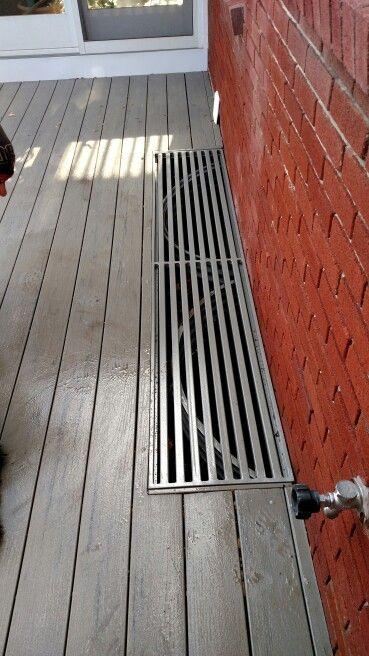 Custom Made Grate For Deck Made From Steel Tube With