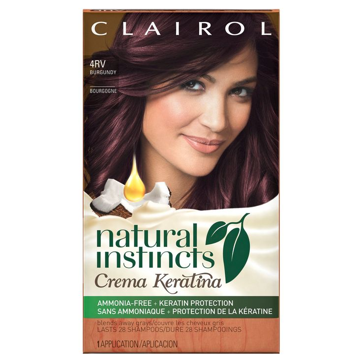 Clairol Natural Instincts Crema Keratina Hair Color - Burgundy 4RV
