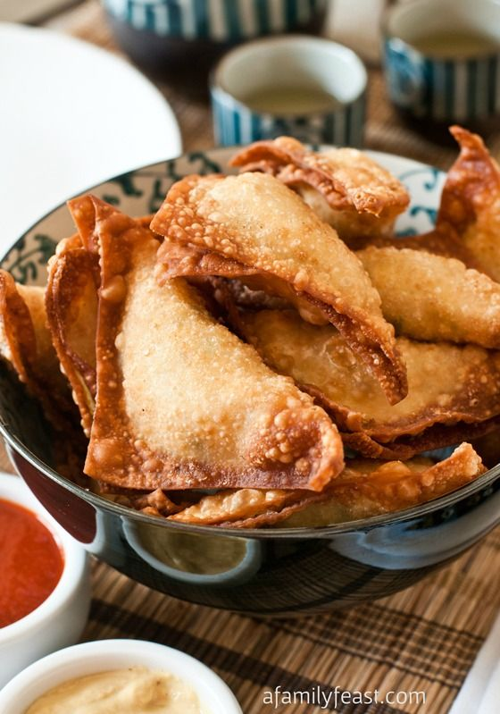 Crab Rangoon - An easy and super delicious recipe for Crab Rangoon - so creamy and savory! These are some of the best I've had. Adapted from Trader Vic's recipe.