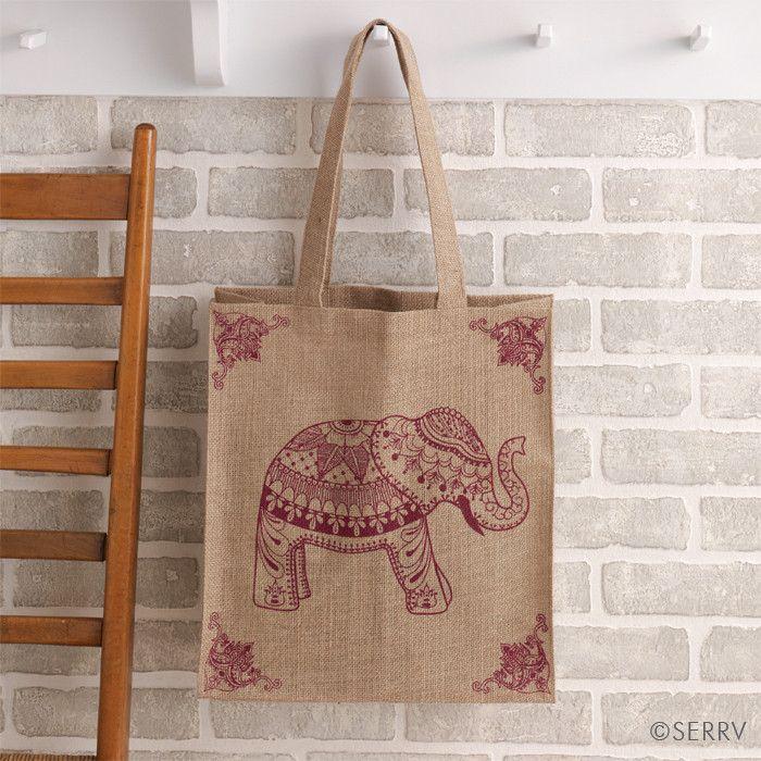 Elephant Jute Shopping Bag