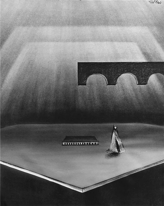 Drahomíra a její synové - 10.06.1960 Josef Svoboda - návrh scény