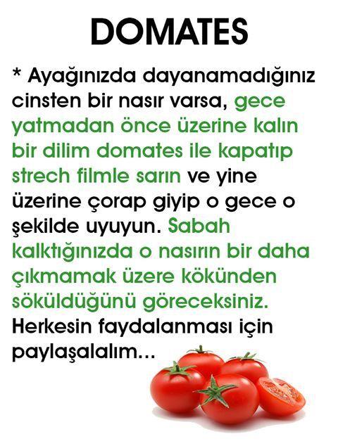 Nasır için domates şifa kaynağı  #nasır #domates