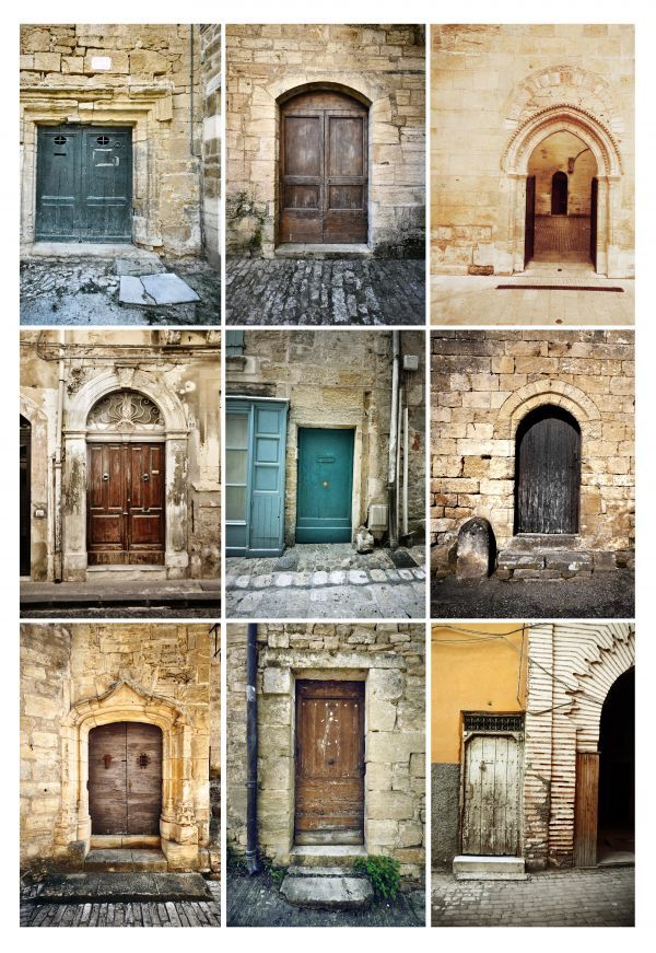 """Doors from everywhere"" by Damien Saillet on Displate #door #mosaic #displate #photography"