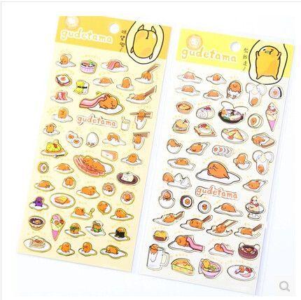 Cute Sanrio Gudetama Lazy Egg Stickers Diary Scrapbook Decoration PVC Stationery DIY