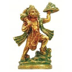 Brass Dual toned (Red & Green)  Hanuman