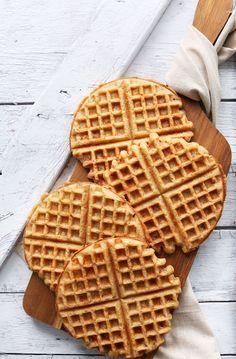 EASY 30-minute YOGURT WAFFLES! Totally #vegan #glutenfree and SO tender and crisp!!