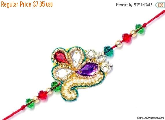 SALE VALENTINE DAY Rakhi Handmade 2 design choices by StoreUtsav