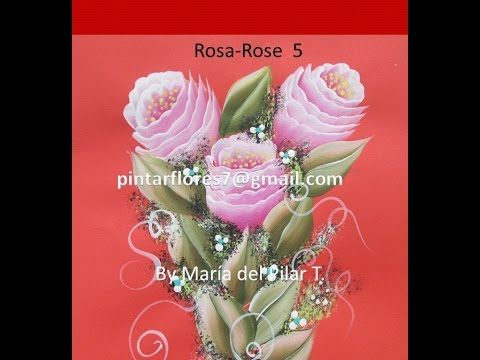 One stroke painting roses. Как написать розы маслом. Come dipingere la rosa, How to paint a rose. - YouTube