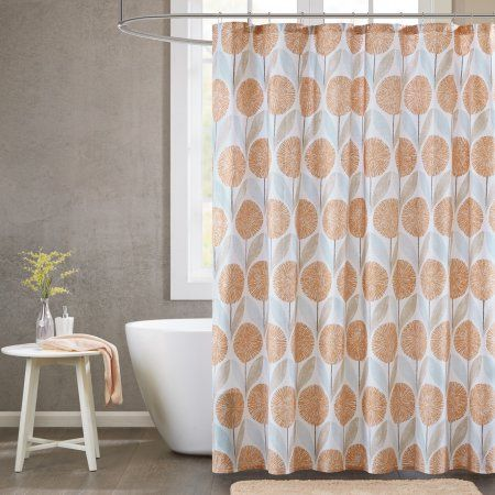 Home Essence Apartment Avon Cotton Printed Shower Curtain, Assorted