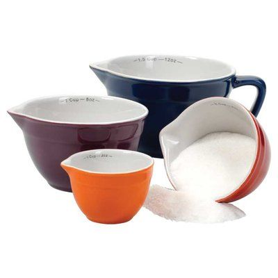 Fox Run Craftsmen Gladys 4-Piece Ceramic Measuring Cup Set