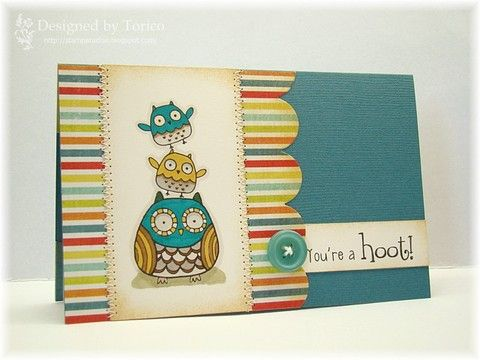 You're a HOOT - EwenStyleOwls Cards, Cards Ideas, Challenges 109, Cases Study, Handmade Cards, Crafty Cards, Cards Owls, Study Challenges, Cards Handmade