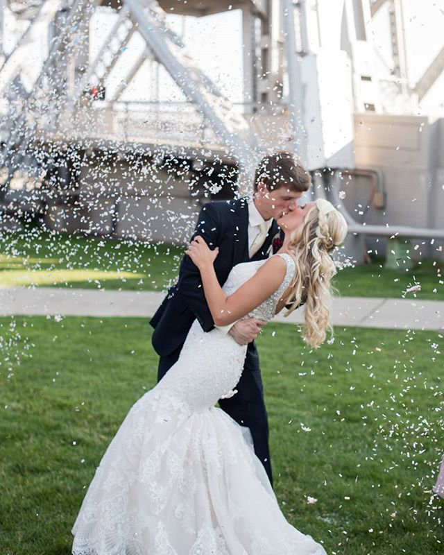 Cue The Confetti This Wsistole The Show In Her Allurebridals Bridal Gown For Her Dulu Wedding Bridesmaid Dresses Wedding Dresses Designer Bridesmaid Dresses