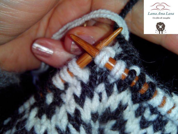 Lavorazione Jacquard maglione islandese