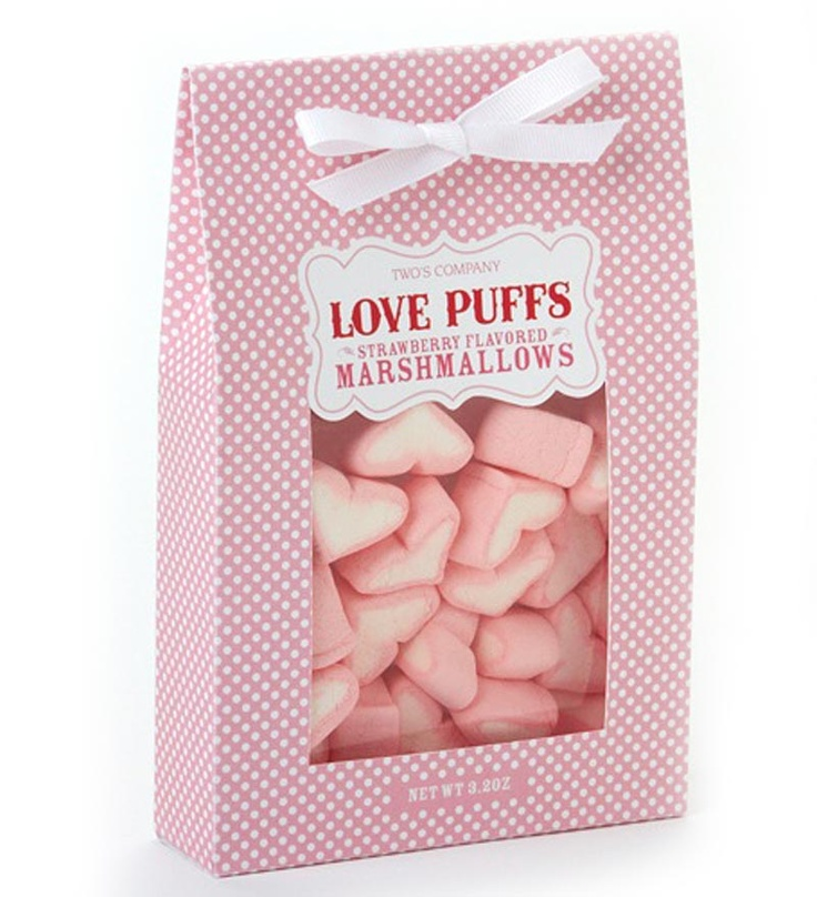 Love Puff Strawberry Marshmallows Holidays Valentines
